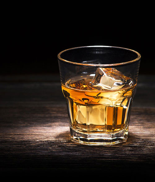 Enjoy a glass of Charles Goodnight Bourbon.