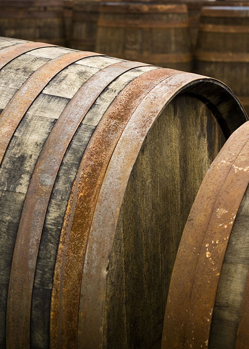 Goodnight Bourbon in charred, new American oak barrels.